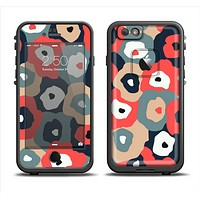 The Bulky Colorful Flowers Apple iPhone 6 LifeProof Fre Case Skin Set