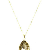 Amber Brown Large Jewel Necklace