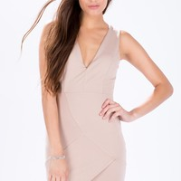 Panelled Wrap Hem Dress