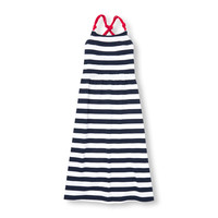 Girls Americana Sleeveless Striped Cross-Back Maxi Dress | The Children's Place