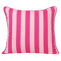 Wake Up Frankie - Pink Perfection Striped Euro Sham : Teen Bedding, Pink Bedding, Dorm Bedding, Teen Comforters