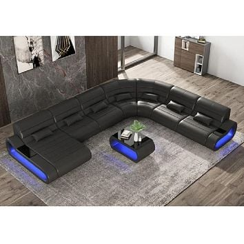 Imperial Fur Stylish Leather Sectional Sofa Set