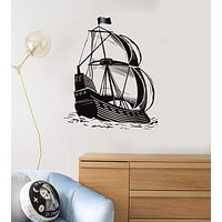 Vinyl Decal Ship Marine Decor Ocean Sea Nautical Wall Stickers Unique Gift (ig2783)
