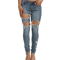 Light Denim Aftermath Skinny Jeans