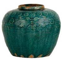 EMBELLISHED TURQUOISE JAR    tabletop    accessories    Jayson Home & Garden