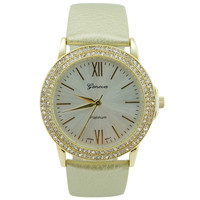 Delicate 2 Row Crystal Roman Numeral Watch