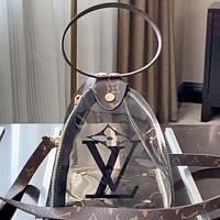 Lv 2020 new transparent jelly bag beach bag handbag shoulder bag