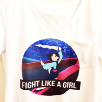 Fight like a Girl Shirt Shirt |  Mulan Pocket Tee | Disney Princess