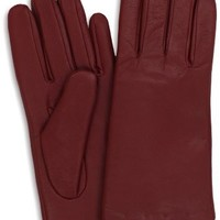 Isotoner Women's Smooth Leather Two Button Length Glove with Thinsulate Lining