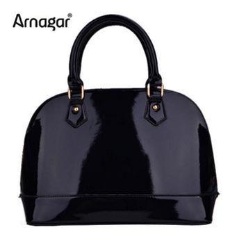 New patent leather tote bags