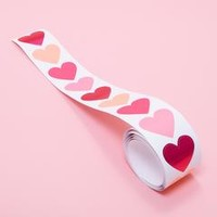 stickers - heart foil roll