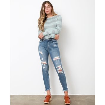 All Over Again Skinny Jeans - Denim Blue