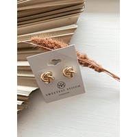 Knot Studs - Gold