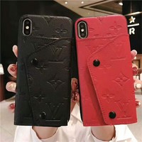 LV Louis Vuitton Tide brand wristband with iPhoneX mobile phone case cover