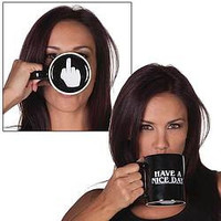 Have A Nice Day Middle Finger Coffee Mug - Default