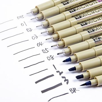 Sakura Professional Pigma Art Marker Pen For Drawing Sketch Archival Black Ink Brush Stationery Animation Art supplies