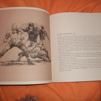 Vintage Pro Hall of Fame football Book 1970's