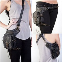 Rock Leather & Vintage Gothic Retro Steampunk Handbag Shoulder Bag Coin Purse