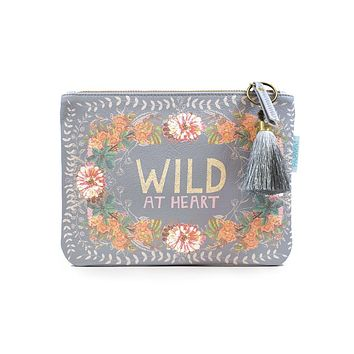 Peachy Wild Pocket Clutch