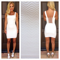 Bodycon Master Mini Dress- WHITE