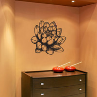 Vinyl Wall Decal Sticker Lotus Blossom #1074