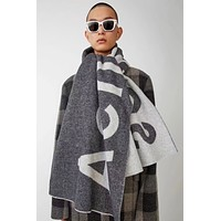 """Acne Studios"" Autumn Winter Classic Popular Women Soft Cashmere Cape Scarf Scarves Shawl Accessories Grey"