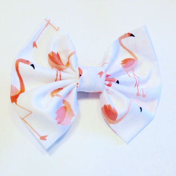 Flamingo Hair Bow-Kid's Hair Boo-Zoo Hair Accessories-Hair Clips