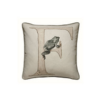 Linen with Letter F Print Cushion | Andrew Martin Animal Alphabet F