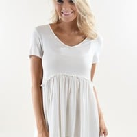 Be My Baby Top ~ White
