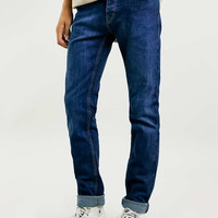 MID BRIGHT BLUE STRETCH SKINNY - Men's Jeans - Clothing
