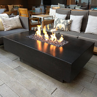 "30"" x 60"" Rectangular You-Design-It Custom Made 2-Piece Fire Pit Table"