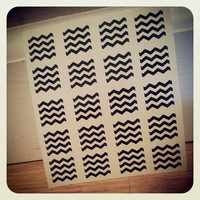 Chevron Nail Decals- YOU CHOOSE COLOR- Set of 80 strips