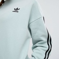 Adidas Originals Three Stripe Brkly Heights Crew Pullover Sweater