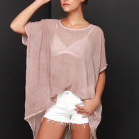 Black Swan Moment Mauve Cover-Up
