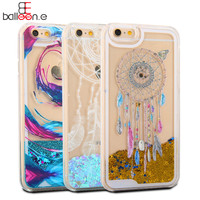 Newest Hot Dynamic Liquid Glitter Star & Love hearts QuickSand Case For iphone 6 6s Plus 7 7 Plus Crystal Clear Phone Back Cover
