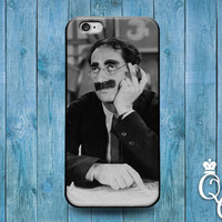 iPhone 4 4s 5 5s 5c 6 6s plus + iPod Touch 4th 5th 6th Generation Cute Funny Cool Groucho Marx Black White Middle Finger Phone Cover Case +