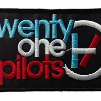 QIANGSHENG Twenty One Pilots Logo Embroidered Velcro Patch