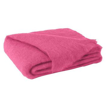 Lands Downunder Hot Pink Brushed Mohair Throw