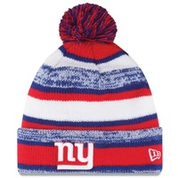 Mens New York Giants New Era Red On-Field Sport Sideline Cuffed Knit Hat