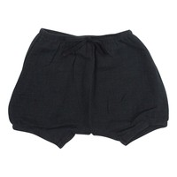 Mouche Unisex-Baby Black Crinkly Bloomers