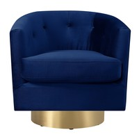 Harlow Swivel Chair NAVY