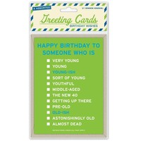 Birthday Wishes Greeting Cards - Assortment of 6 Clever Birthday Cards - Whimsical & Unique Gift Ideas for the Coolest Gift Givers