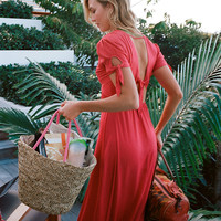 Karlie Kloss Solid Maxi Dress