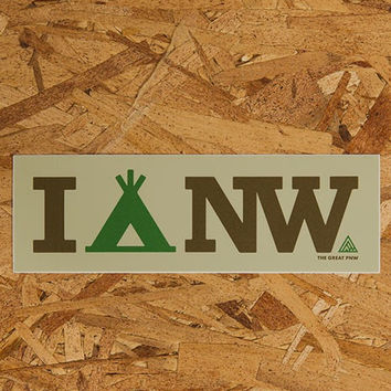 I Camp NW Sticker
