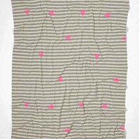 Assembly Home Geo Overprint Throw Blanket- Grey One