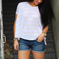 Madison Swing Tee {White}