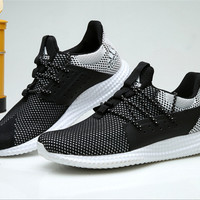 """Adidas"" Women Men White Black Sneakers Running Sport Shoes"