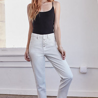 Bullhead Denim Co. Cloud White Exposed Button Vintage High Rise Jeans at PacSun.com