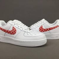 Women's and men's nike air force 1 SUPREME LV cheap nike shoes 077