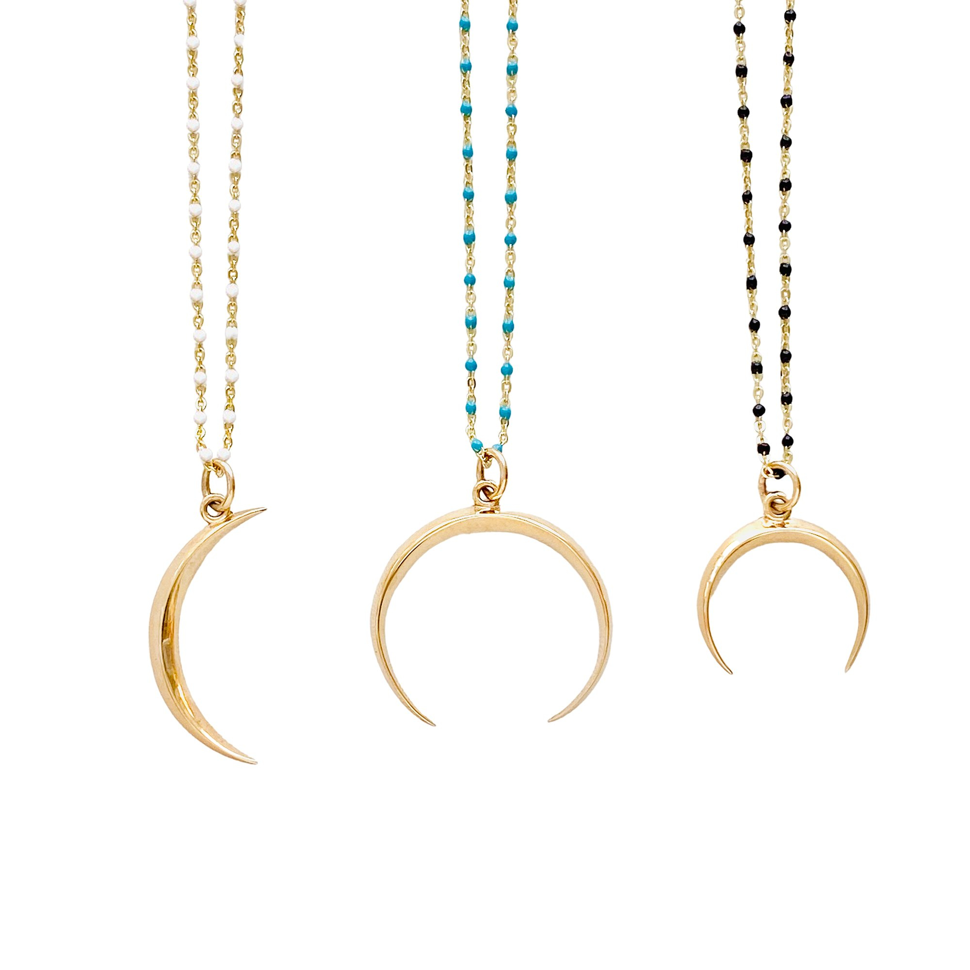 Image of Beaded Moon Necklace